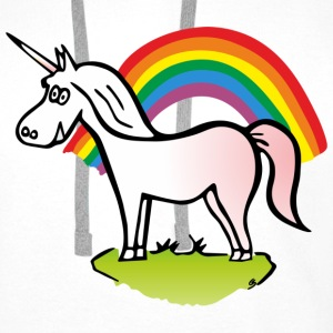 Unicorn and Rainbow T-shirts - Premiumluvtröja herr