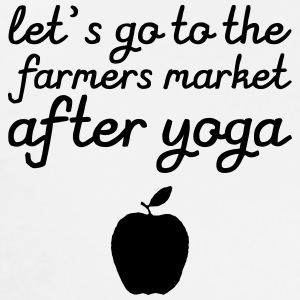Let's go to the farmer's market after yoga Sweat-shirts - T-shirt Premium Homme