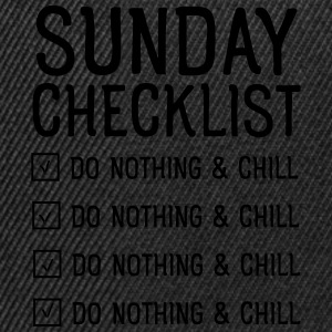 Sunday checklist Tee shirts - Casquette snapback