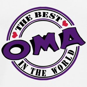 Oma The best in the world Buttons & Anstecker - Männer Premium T-Shirt