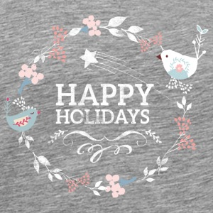 Kranz Vintage Happy Holiday - Männer Premium T-Shirt
