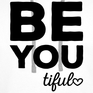 Be-You-Tiful Positive Quote Bags & Backpacks - Men's Premium Hoodie