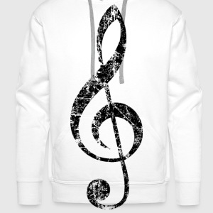 Violin key, musical key Buttons - Men's Premium Hoodie