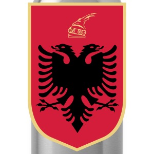 Coat_of_Arms_of_Albania T-Shirts - Trinkflasche