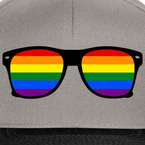 Gay Lesbich Rainbow Glasses Pride  - Snapback Cap