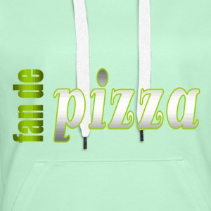 fan de pizza - Sweat-shirt à capuche Premium pour femmes