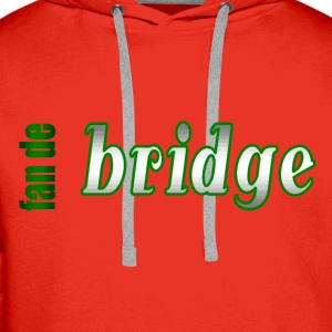fan de bridge - Sweat-shirt à capuche Premium pour hommes