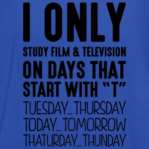 i only study film  television on days th - Women's Tank Top by Bella