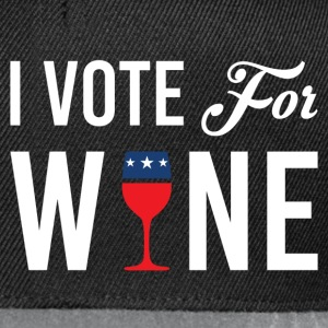 I Vote For Wine T-Shirts - Snapback Cap