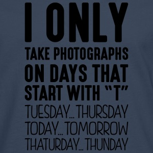 i only take photographs on days that end - Men's Premium Longsleeve Shirt