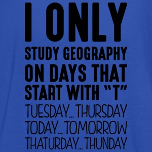 i only study geography on days that end  - Women's Tank Top by Bella