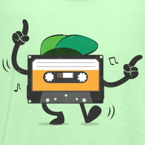 Dancing Cassette Tape (Vintage Style) T-Shirts - Women's Tank Top by Bella