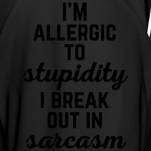 Allergic To Stupidity Funny Quote Mugs & Drinkware - Men's Football Jersey
