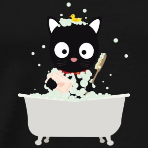 Cat bathing in the tub Baby Bodysuits - Men's Premium T-Shirt
