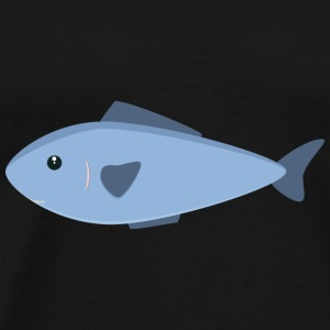 Cute blue sea fish Long Sleeve Shirts - Men's Premium T-Shirt