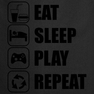 Eat,sleep,play,repeat Geek Gamer Nörd  - Förkläde