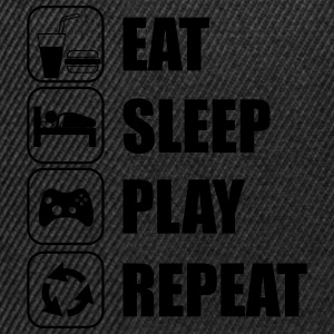 Eat,sleep,play,repeat Geek Gamer Nörd  - Snapbackkeps