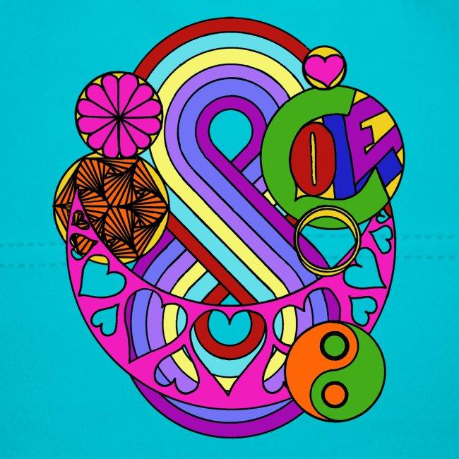 Coloured Love Mandala