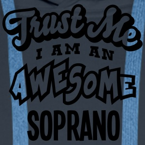 soprano trust me i am an awesome - Sweat-shirt à capuche Premium pour hommes