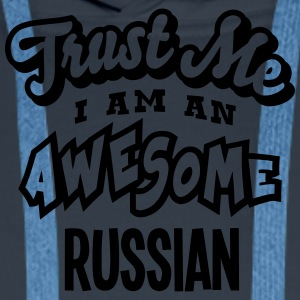 russian trust me i am an awesome - Men's Premium Hoodie