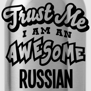 russian trust me i am an awesome - Water Bottle
