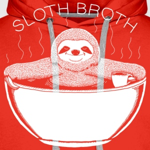 Sloth Broth White T-Shirts - Men's Premium Hoodie