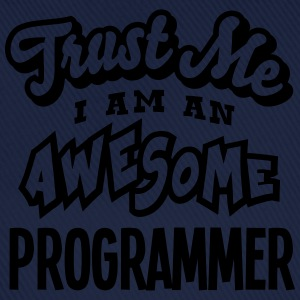 programmer trust me i am an awesome - Casquette classique