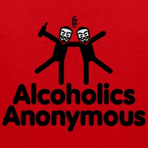 Alcoholics Anonymous AA T-skjorter - Premium singlet for menn