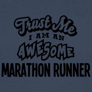 marathon runner trust me i am an awesome - T-shirt manches longues Premium Homme