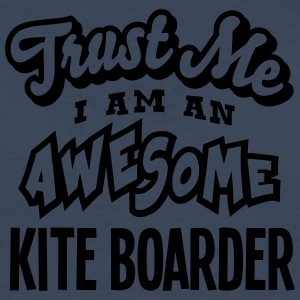 kite boarder trust me i am an awesome - T-shirt manches longues Premium Homme