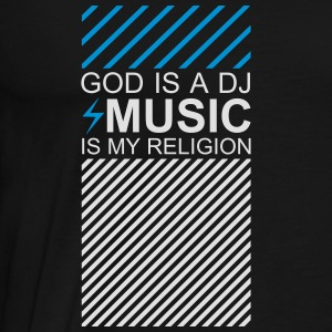 God is a DJ Tanktop Electronic Music Festival EDM - Männer Premium T-Shirt