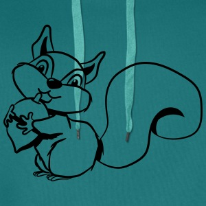 Squirrel sweet T-Shirts - Men's Premium Hoodie