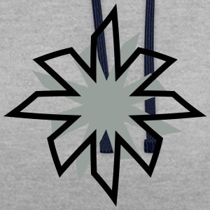 minimalistic star T-Shirts - Contrast Colour Hoodie