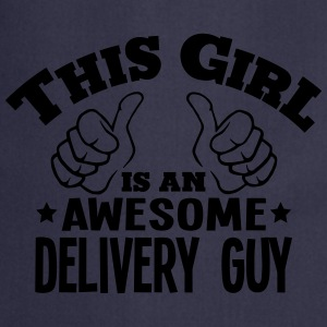 this girl is an awesome delivery guy cop - Cooking Apron
