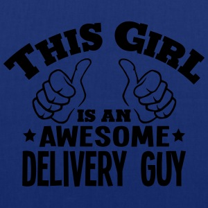 this girl is an awesome delivery guy cop - Tote Bag