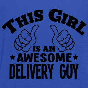 this girl is an awesome delivery guy cop - Women's Tank Top by Bella