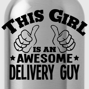 this girl is an awesome delivery guy cop - Water Bottle