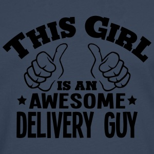 this girl is an awesome delivery guy cop - Men's Premium Longsleeve Shirt
