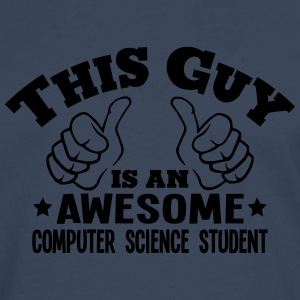 this guy is an awesome computer science  - Men's Premium Longsleeve Shirt
