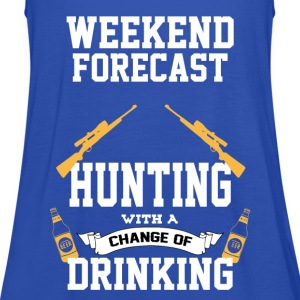 Hunting With A Chance Of Drinking T-Shirts - Women's Tank Top by Bella