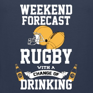 Rugby With A Chance Of Drinking Mugs & Drinkware - Men's Premium Tank Top