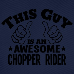this guy is an awesome chopper rider - Baseball Cap