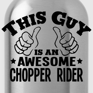 this guy is an awesome chopper rider - Water Bottle