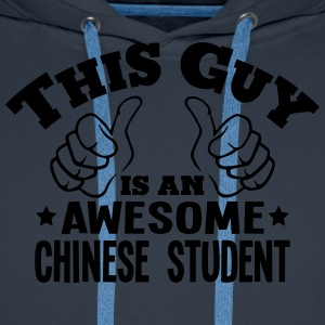 this guy is an awesome chinese student - Men's Premium Hoodie