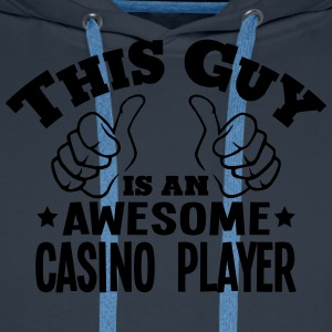 this guy is an awesome casino player - Men's Premium Hoodie