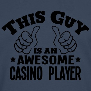 this guy is an awesome casino player - Men's Premium Longsleeve Shirt