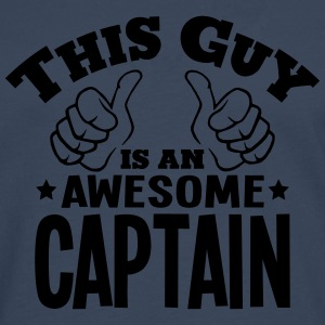 this guy is an awesome captain - Men's Premium Longsleeve Shirt
