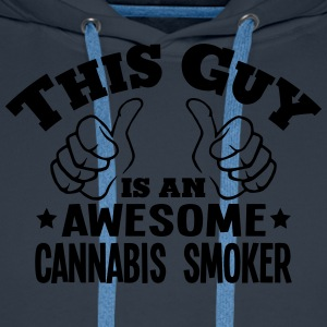 this guy is an awesome cannabis smoker - Men's Premium Hoodie
