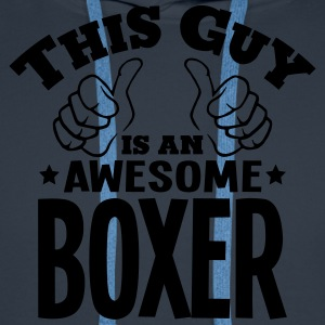 this guy is an awesome boxer - Men's Premium Hoodie
