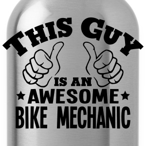 this guy is an awesome bike mechanic - Water Bottle
